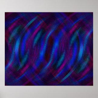 Reflexionen im Blau Poster