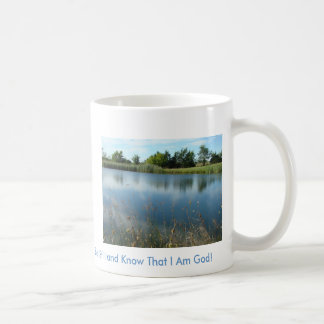Reflexionen im Teich, sind noch und wissen die… Kaffeetasse