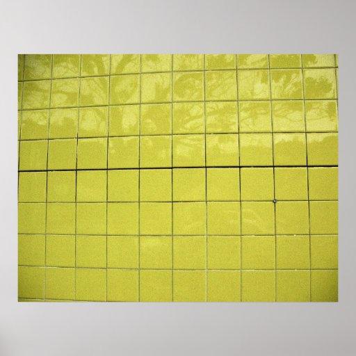 Réflexions jaunes affiches