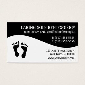 Reflexzonenmassagereflexologist-Visitenkarten Visitenkarte