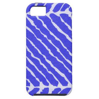Regard bleu de toile de rayures de tigre coques iPhone 5