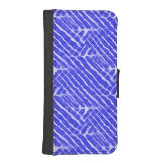 Regard bleu de toile de rayures de tigre coques avec portefeuille pour iPhone 5