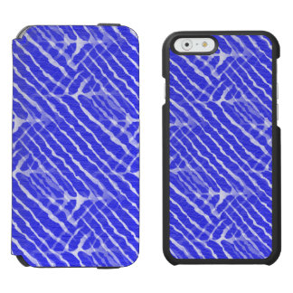 Regard bleu de toile de rayures de tigre coque-portefeuille iPhone 6 incipio watson™