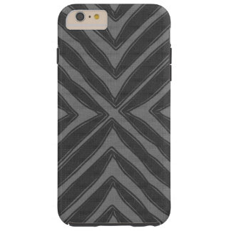 Regard de toile gris d'impression africain moderne coque iPhone 6 plus tough