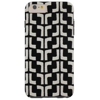 Regard de toile noir blanc tribal africain de coque tough iPhone 6 plus