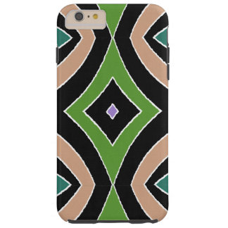 Regard de toile noir pourpre de vert africain coque tough iPhone 6 plus