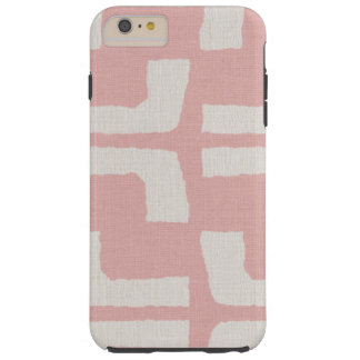 Regard de toile rose blanc tribal africain de coque iPhone 6 plus tough