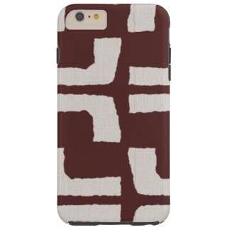 Regard de toile rouge blanc tribal africain de coque tough iPhone 6 plus