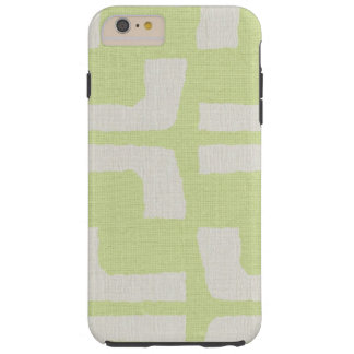 Regard de toile vert blanc tribal africain de coque tough iPhone 6 plus