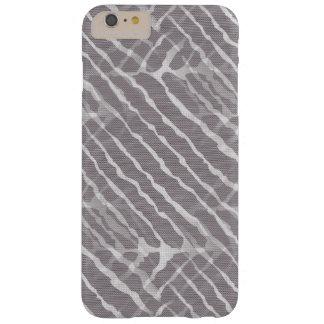 Regard gris de toile de rayures de tigre coque iPhone 6 plus barely there