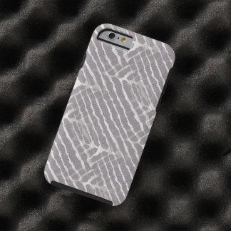 Regard gris de toile de rayures de tigre coque iPhone 6 tough