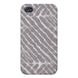 Regard gris de toile de rayures de tigre coque iPhone 4