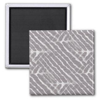 Regard gris de toile de rayures de tigre magnet carré