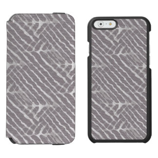 Regard gris de toile de rayures de tigre coque-portefeuille iPhone 6 incipio watson™
