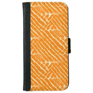 Regard orange de toile de rayures de tigre coque avec portefeuille pour iPhone 6