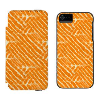 Regard orange de toile de rayures de tigre coque-portefeuille iPhone 5 incipio watson™