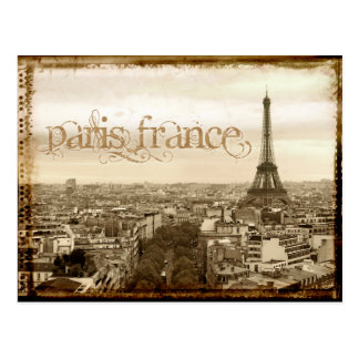 regard vintage de Paris France Carte Postale