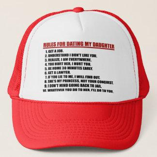 Regeln für verabredeten meinen Tochter-roten Truckerkappe