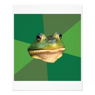 Regelwidriges Junggeselle-Frosch-Ratetier Meme Flyerbedruckung