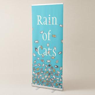 Regen des blauen kundenspezifischen Textes der Ausziehbarer Banner