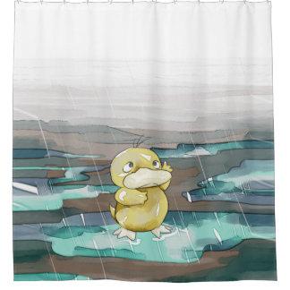 Regen-Ente Duschvorhang