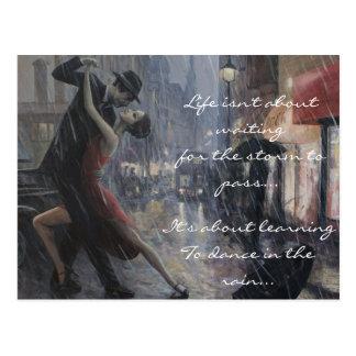 Regen-Tanz Postkarte