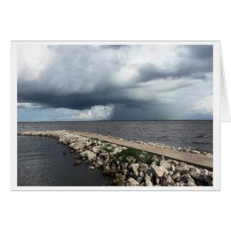 Regen von Palacios Bucht, Palacios, Texas Grußkarte
