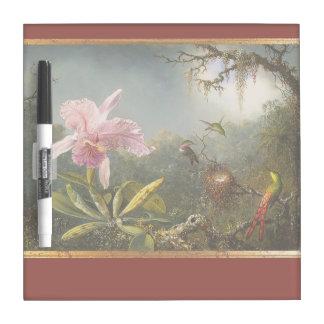 Regen-Waldkolibri-Vogel-Tier-Orchideen Trockenlöschtafel