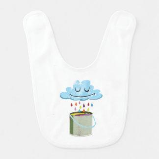 Regen-Wolken-Schellfisch Babylätzchen