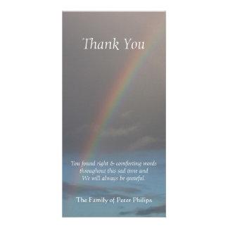 Regenbogen -1 - Beileid danken Ihnen Foto-Karte Personalisierte Foto Karte