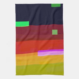 Regenbogen-abstrakte Kunst Küchentuch