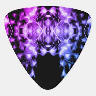 Regenbogen-abstraktes grafisches mit Blumenmuster Plektrum