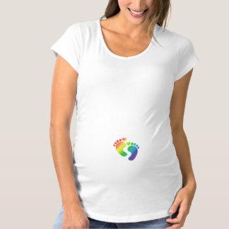 Regenbogen-Baby-Abdruck-Mutterschafts-T - Shirt