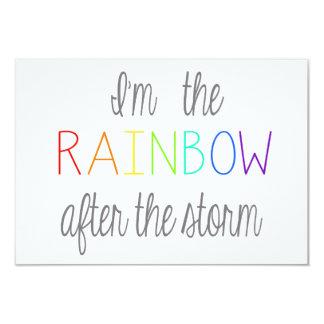 Regenbogen-Baby-Karte *Personalize* Karte