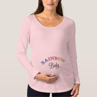 Regenbogen-Baby Umstands-T-Shirt
