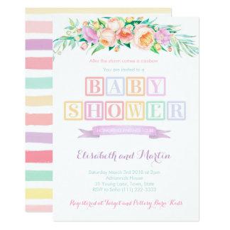 Regenbogen-Babypartyeinladung kardiert Karte