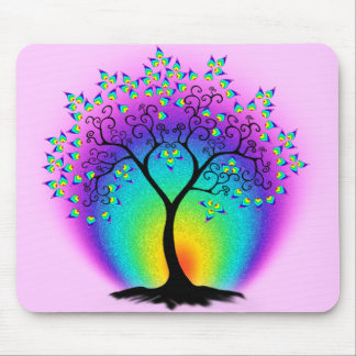 Regenbogen-Baum des Lebens Mousepad
