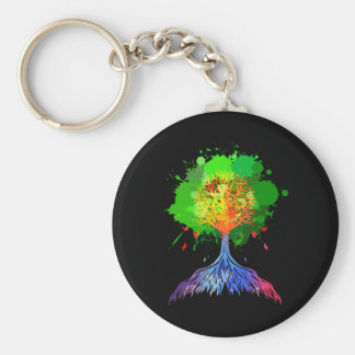 Regenbogen-Baum des Lebens Schlüsselanhänger