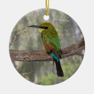 Regenbogen Bieneesser Vogel, Australien Keramik Ornament