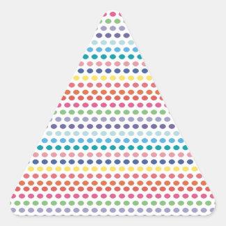Regenbogen-Blasen Dreieckiger Aufkleber