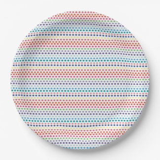 Regenbogen-Blasen Pappteller