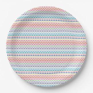 Regenbogen-Blasen Pappteller 22,9 Cm