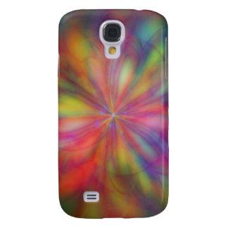 Regenbogen-Blume Galaxy S4 Hülle