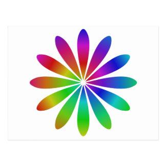 Regenbogen-Blume Postkarte