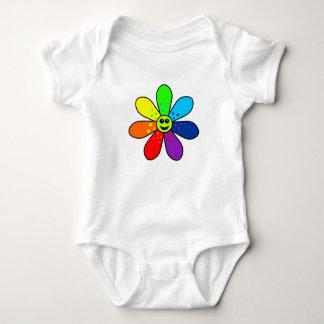 Regenbogen-Blumen-Baby-Bodysuit Baby Strampler