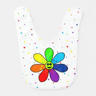 Regenbogen-Blumen-Baby-Schellfisch Lätzchen