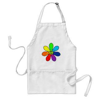 Regenbogen-Blumen-Schürze Schürze