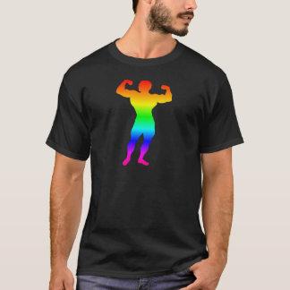 Regenbogen-Bodybuilder T-Shirt