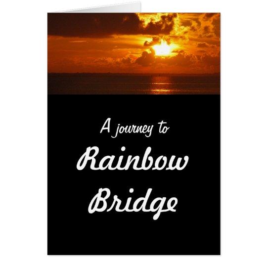 Regenbogen-Brücke - HundeBeileid Grußkarte
