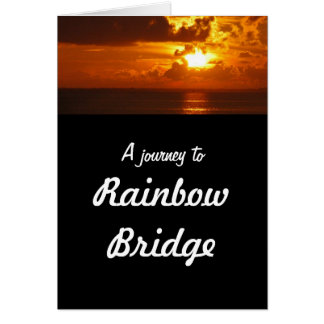 Regenbogen-Brücke - HundeBeileid Karte